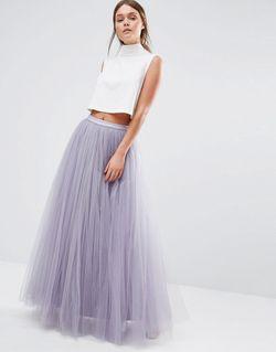Юбка Макси Из Тюля Dusky Lilac Little Mistress                                                                                                              Dusky Lilac цвет