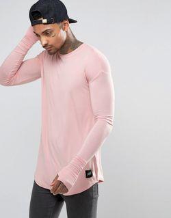 Удлиненный Лонгслив Розовый Sixth June                                                                                                              розовый цвет