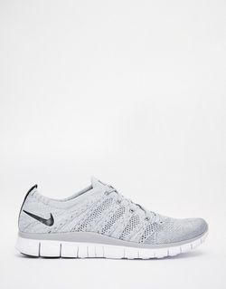 Free Flyknit Trainers 599459-002 Nike                                                                                                              серый цвет