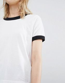 Dr Denim Ringer T-Shirt Белый Dr. Denim                                                                                                              None цвет