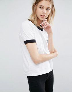 Dr Denim Ringer T-Shirt Белый Dr. Denim                                                                                                              None цвет