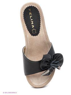 Шлепанцы Felina shoes                                                                                                              чёрный цвет