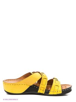 Шлепанцы J&Elisabeth                                                                                                              желтый цвет