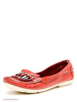 Мокасины El Tempo                                                                                                              красный цвет