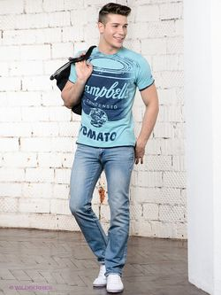 Футболка Pepe Jeans London                                                                                                              Бирюзовый цвет