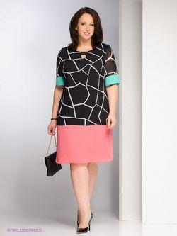 Платья Gemko plus size                                                                                                              розовый цвет