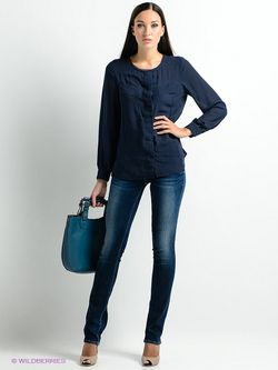 Блузки Pepe Jeans London                                                                                                              синий цвет