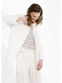 Пальто Mango                                                                                                              белый цвет