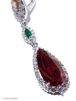 Серьги Royal Diamond                                                                                                              красный цвет