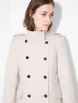 Пальто Mango                                                                                                              Молочный цвет