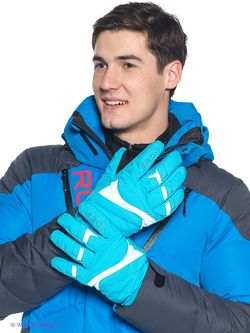 Перчатки Baon                                                                                                              голубой цвет