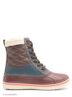 Ботинки Crocs                                                                                                              Бордовый, Морская Волна цвет
