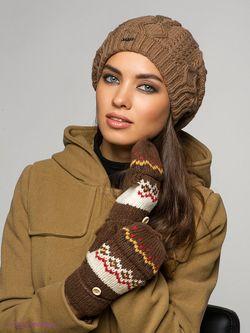 Варежки Modo                                                                                                              коричневый цвет