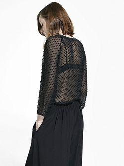 Блузки Mango                                                                                                              черный цвет
