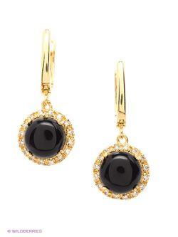Серьги Happy Garnets                                                                                                              черный цвет