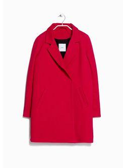 Пальто Mango                                                                                                              красный цвет