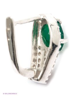 Ювелирные Серьги Silver Wings                                                                                                              зелёный цвет