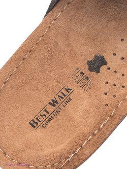 Шлепанцы Best Walk                                                                                                              коричневый цвет