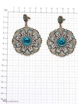 Серьги Art Silver                                                                                                              голубой цвет
