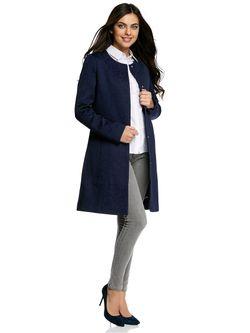 Пальто Oodji                                                                                                              синий цвет