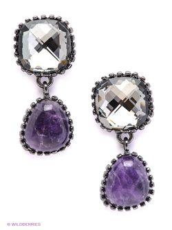 Серьги Selena                                                                                                              фиолетовый цвет
