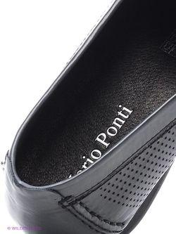 Мокасины Mario Ponti                                                                                                              черный цвет