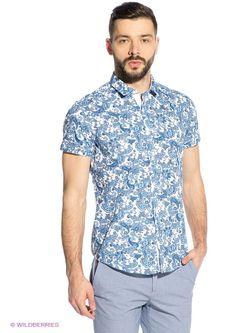 Рубашки Oodji                                                                                                              голубой цвет