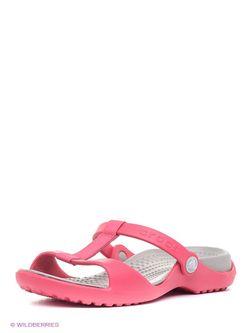 Шлепанцы Crocs                                                                                                              розовый цвет