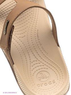 Пантолеты Crocs                                                                                                              коричневый цвет