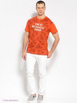 Футболка Finn Flare                                                                                                              оранжевый цвет