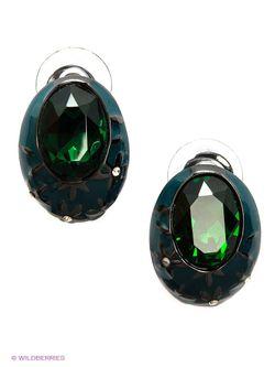 Серьги Art Silver                                                                                                              зелёный цвет