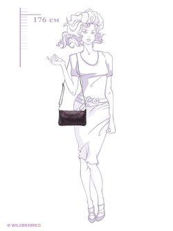 Клатчи Afina                                                                                                              фиолетовый цвет