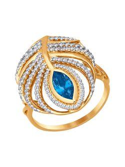 Ювелирные Кольца SOKOLOV                                                                                                              голубой цвет