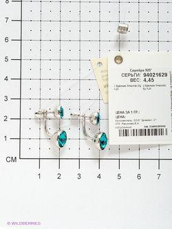 Ювелирные Серьги SOKOLOV                                                                                                              синий цвет