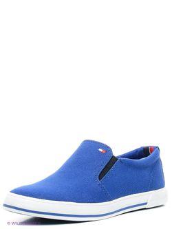 Слипоны Tommy Hilfiger                                                                                                              синий цвет