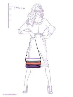 Сумки Pola                                                                                                              фиолетовый цвет