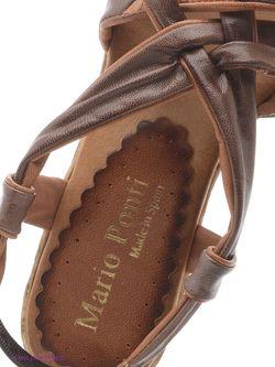 Босоножки Mario Ponti                                                                                                              коричневый цвет