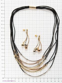 Комплекты Бижутерии Bijoux Land                                                                                                              черный цвет