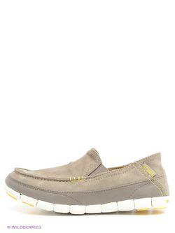 Мокасины Crocs                                                                                                              бежевый цвет