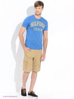 Футболки Tommy Hilfiger                                                                                                              голубой цвет