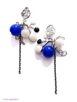Серьги Art Silver                                                                                                              синий цвет