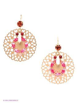 Серьги Moon Paris                                                                                                              розовый цвет