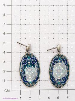Серьги Clara Bijoux                                                                                                              синий цвет