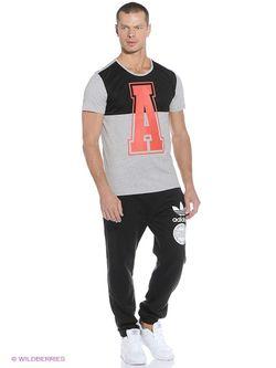 Футболка Adidas                                                                                                              чёрный цвет