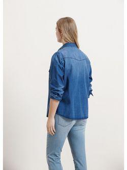 Рубашки Violeta by Mango                                                                                                              синий цвет