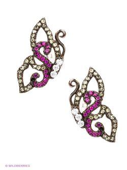 Ювелирные Серьги Art Silver                                                                                                              розовый цвет