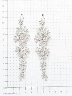 Серьги Taya                                                                                                              серебристый цвет