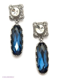 Серьги Taya                                                                                                              синий цвет