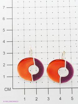 Серьги Taya                                                                                                              оранжевый цвет