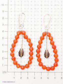 Серьги Polina Selezneva                                                                                                              оранжевый цвет